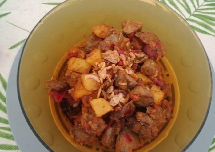 3. Balado ati kentang / sambel goreng ati