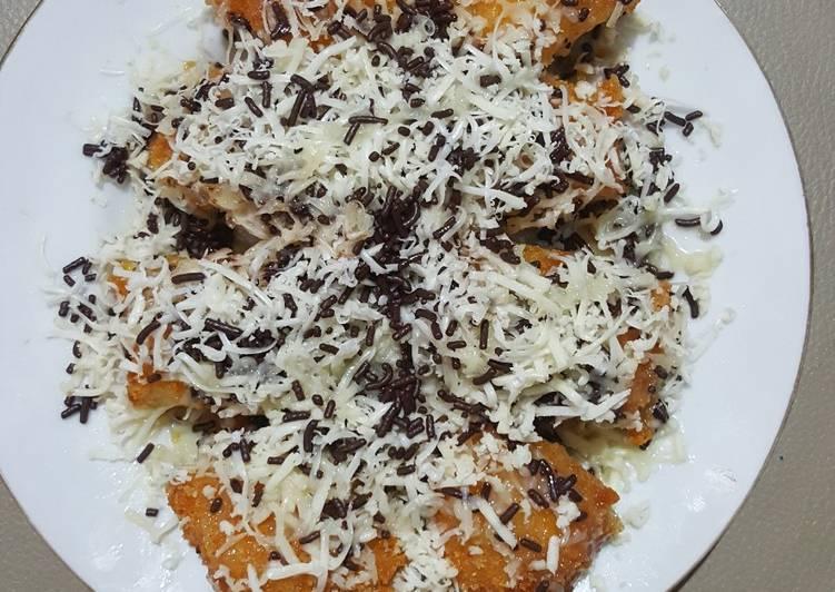 Cara Membuat Pisang goreng pasir crispy, coklat keju anti gagal
