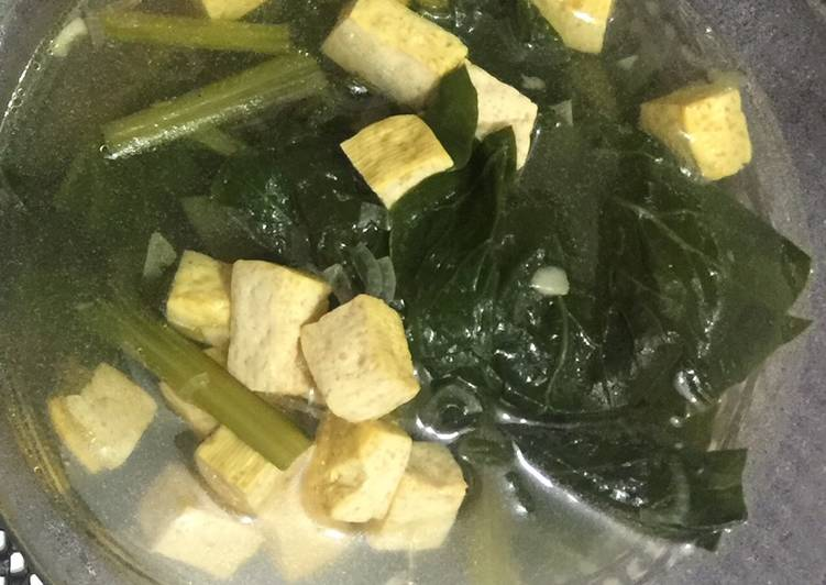 Resep Sayur sawi hijau tahu Yang Simple Dijamin Nagih