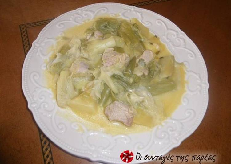 Recipe: Delicious Pork with celery root and leeks