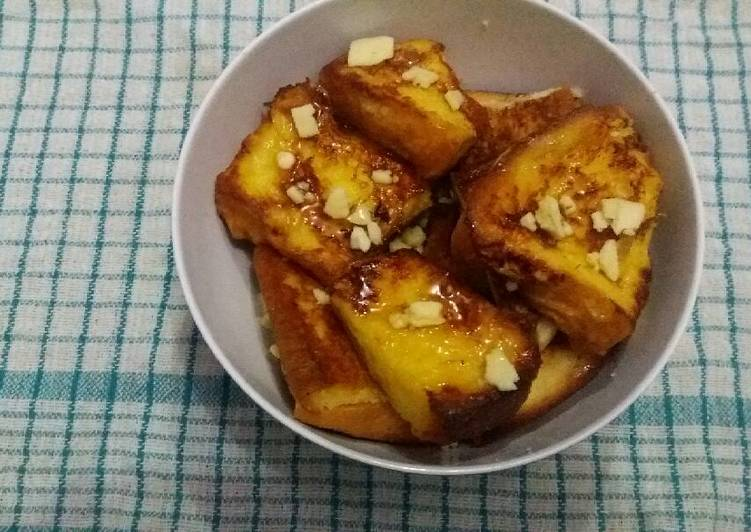 French Toast Pisang Keju Madu