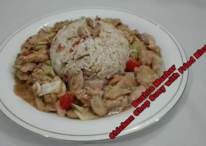 Chicken Chop Suey With Fried Rice