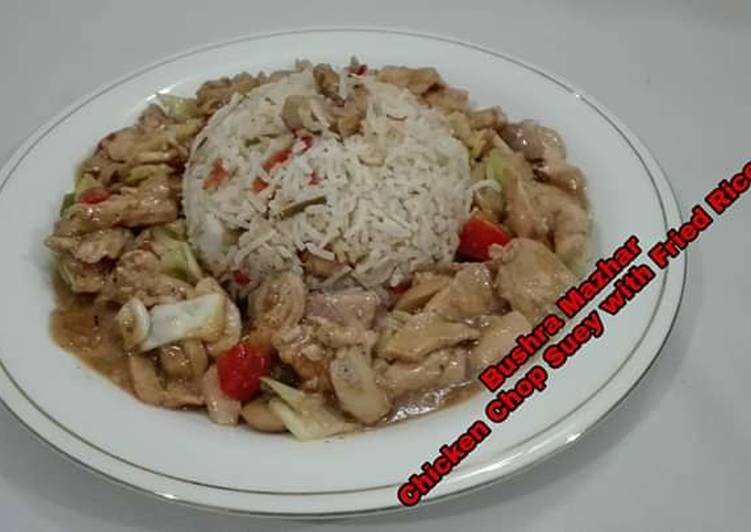 Easiest Way to Prepare Tasty Chicken Chop Suey With Fried Rice