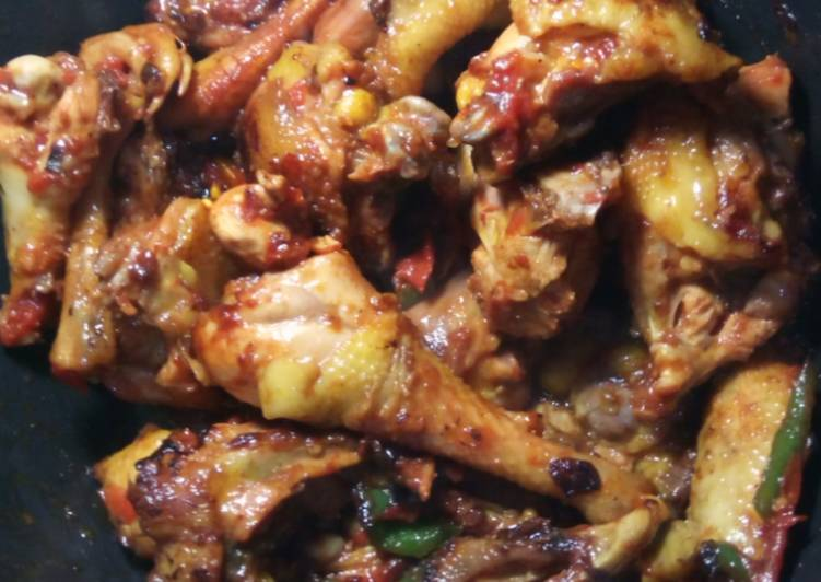 Simple Way to Prepare Any-night-of-the-week Wet fry chicken #Authormaraton
