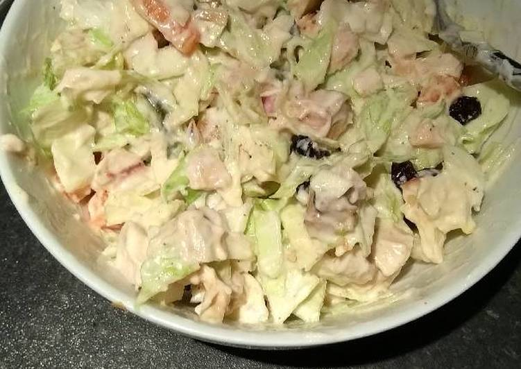 Creamy chicken salad/slaw
