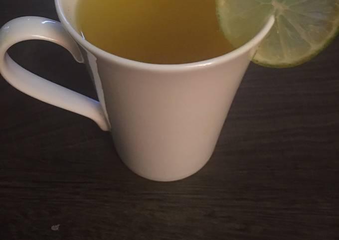 Honey Turmeric tea w/ lime
