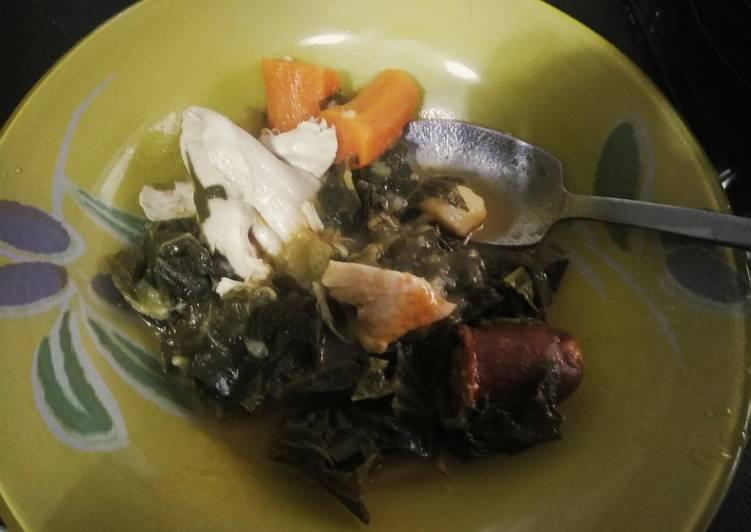 Berzas con verduras y pollo