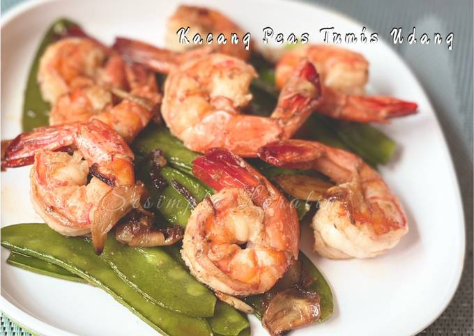 Kacang Peas Tumis Udang (Eat Clean Healthy Lunch/Chinese Style)