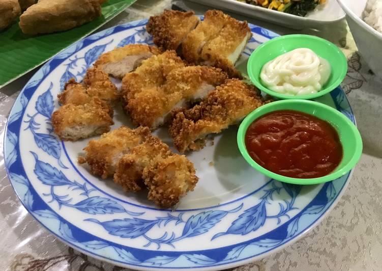 Resep Homemade Chicken Katsu irit untuk jualan
