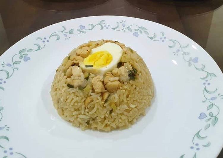 Nasi Tim Ayam Ricecooker