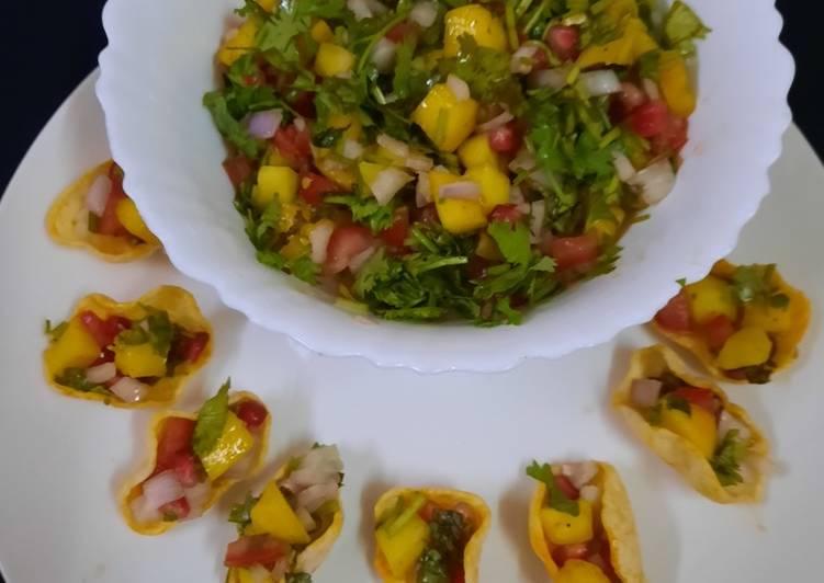 Mango 🥭 Salsa ya mango 🥭 Salad 🥗 😋