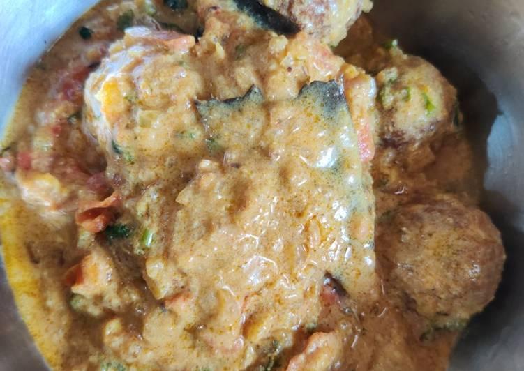 Recipe of Perfect Sorakai kofta/ vegetarian Kofta curry