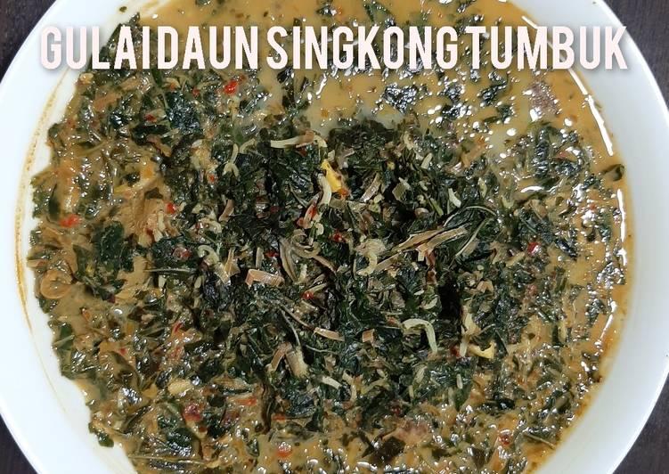 Gulai Daun Singkong Tumbuk (Menu Diet - No Santan-No Minyak)