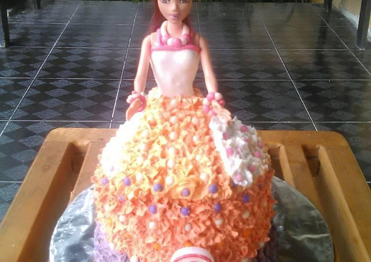 Barbie dolls cake base cake rainbow cake ny.liem - cookandrecipe.com