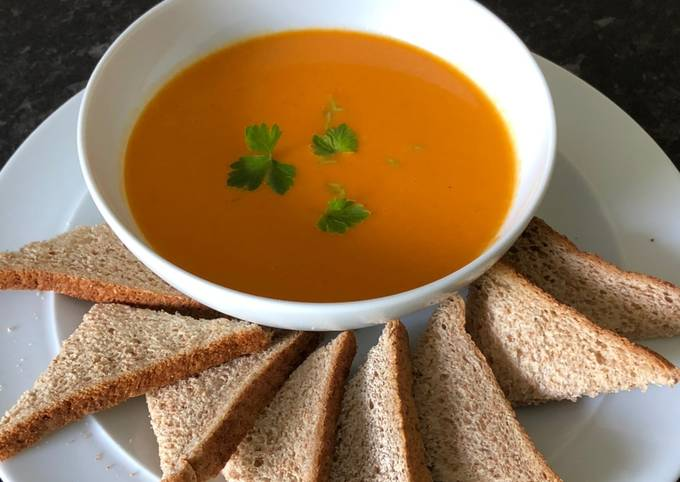 Sweet potato and coconut soup with paprika