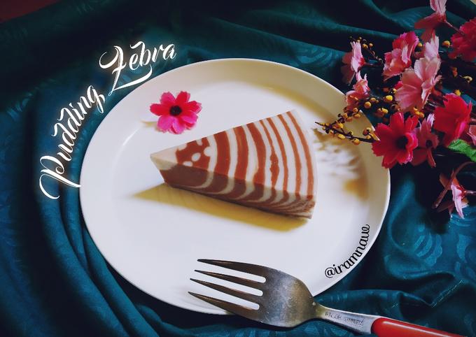 Langkah Mudah untuk Membuat Pudding zebra roti tawar yang Lezat