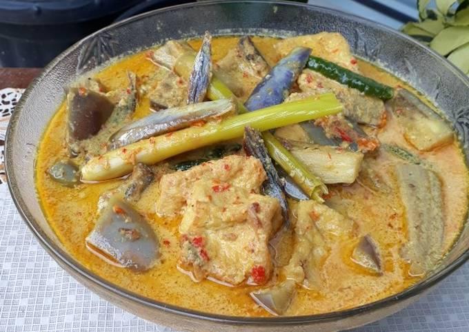 Resep Terong Tahu Ikan Asin Kuah Santan Oleh Sri Raihani Cookpad