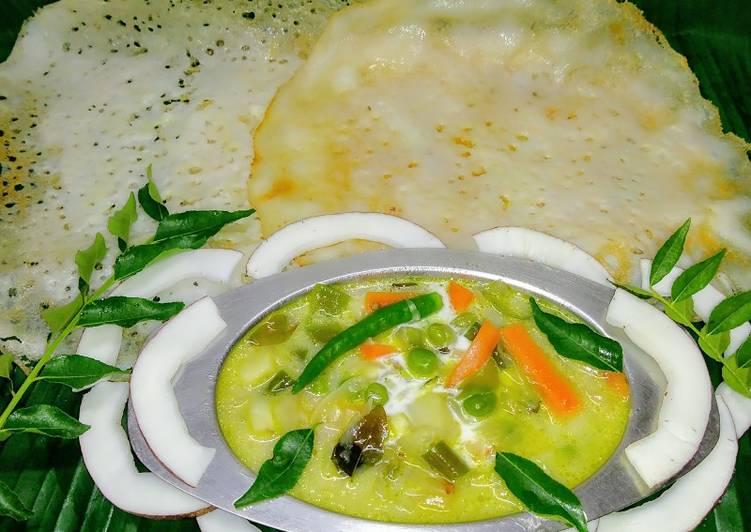 10 Minute Easiest Way to Prepare Blends Appam with vegetable stew