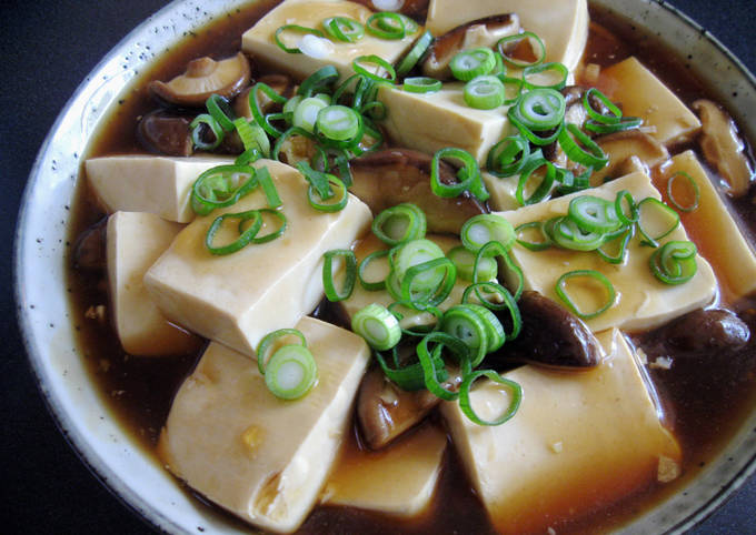 Tofu & Shiitake with Oyster Sauce
