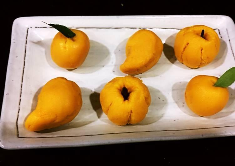 Mango Sondesh(fruit shaped)