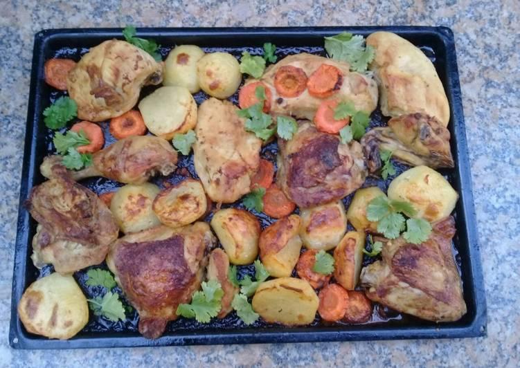 Recipe of Award-winning Grilled chicken & vegetables