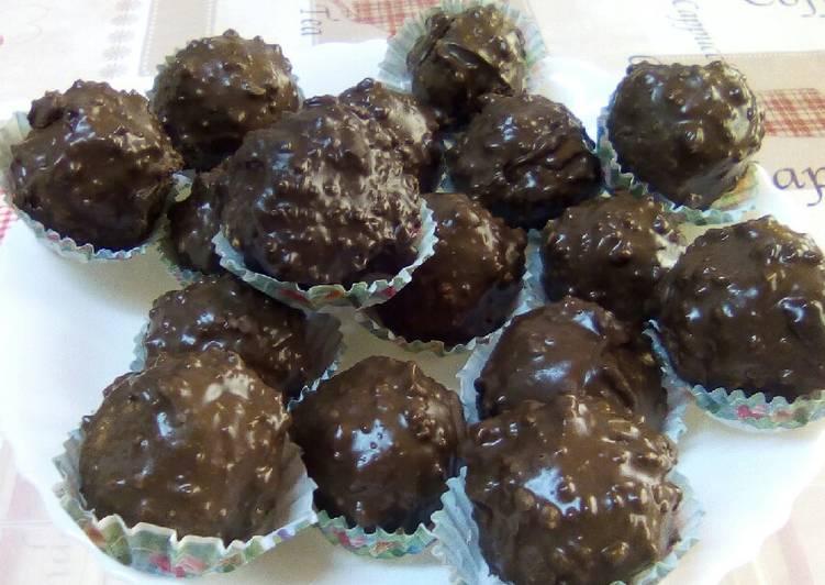 Rocher au chocolat
