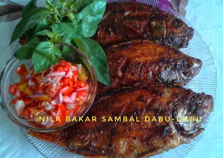 Ikan nila bakar sambal dabu-dabu