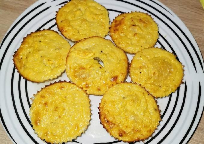 Flan courgettes jaune façon muffins