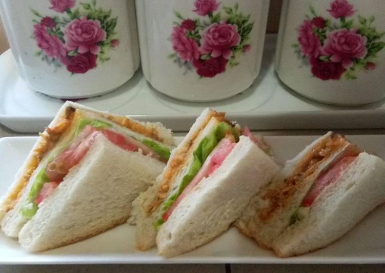 Resepi:  Sandwich Sardin Cik Rose  Dirumah