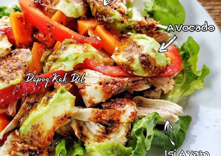 Salad Ayam dengan Honey Paprika Dressing
