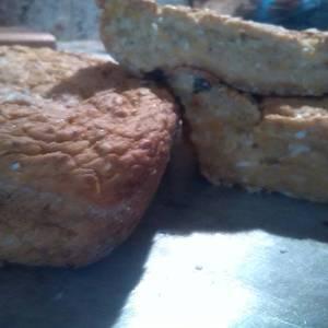 Torta de auyama (calabaza) sin azúcar, sin huevos y sin grasa