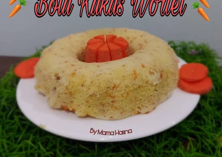 Bolu Kukus Wortel (1 telur, No Mixer)