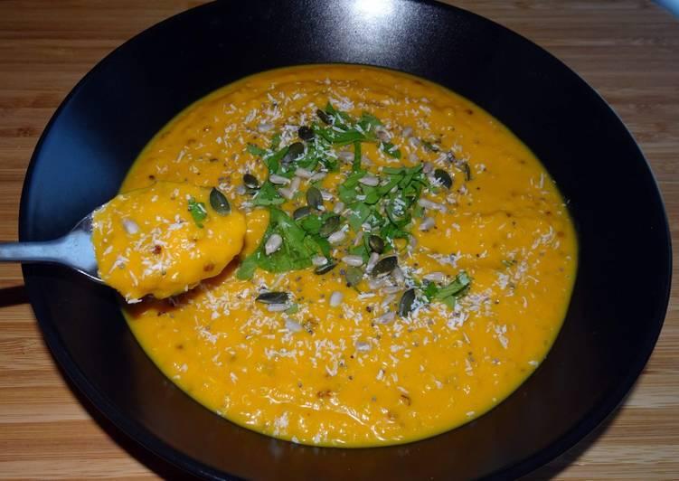 Soupe carottes/quinoa/coco (vegan) (#1recette1arbre #onerecipeonetree #entreeschics)