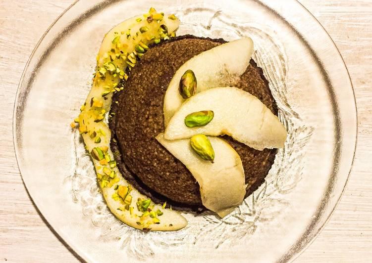 Bowlcake semoule à la poire et au chocolat