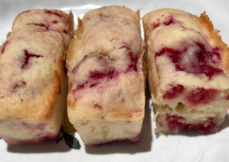 Recette Parfait Mini cakes citron coco framboises