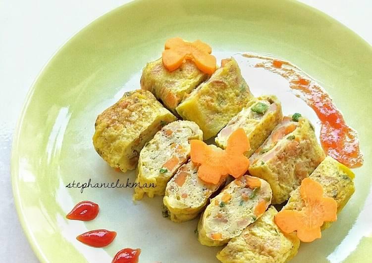 Resep Tamagoyaki (Telur dadar ala Jepang / Japanese style omelette) Paling Enak