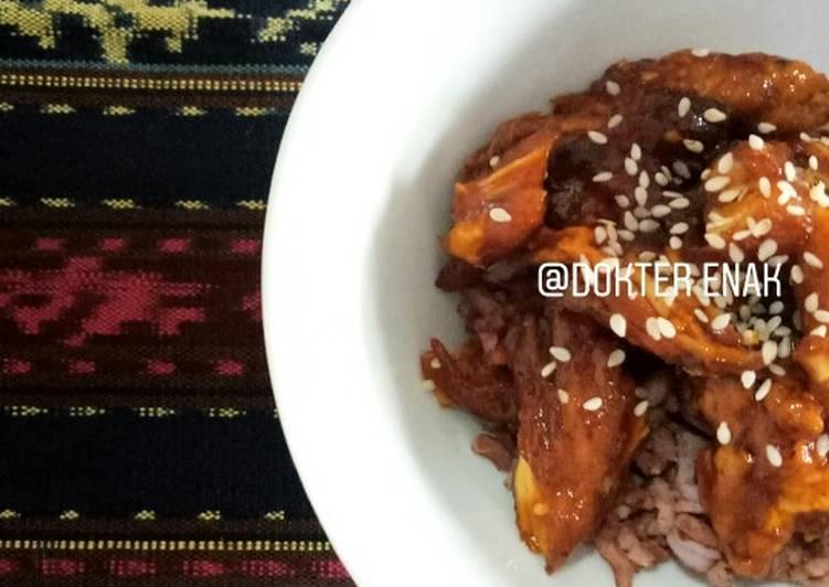 Resep Honey Spicy Chicken Ala Kkuldak Oleh Dokter Enak Cookpad