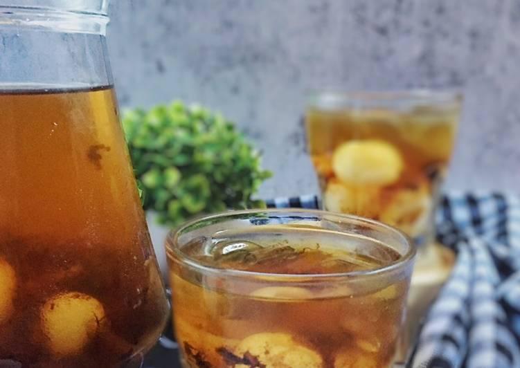 Kelapa Laut Madu +kembang semangkuk +longan (maratonraya) #minuman #minggu2 - resepipouler.com