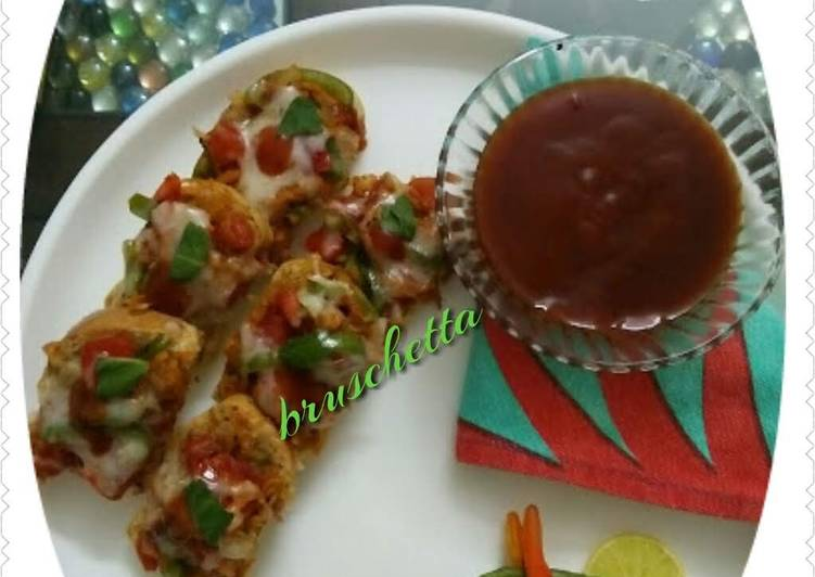 Recipe of Favorite Cheese Bruschetta Italian finger food party appetizer