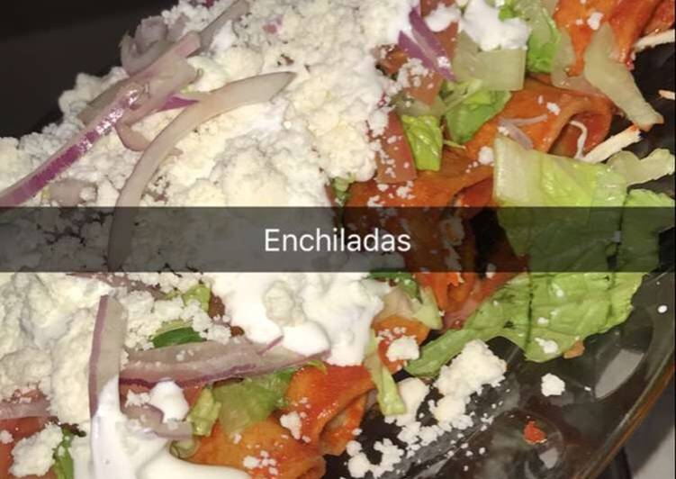 Simple Way to Make Award-winning Enchiladas Rojas