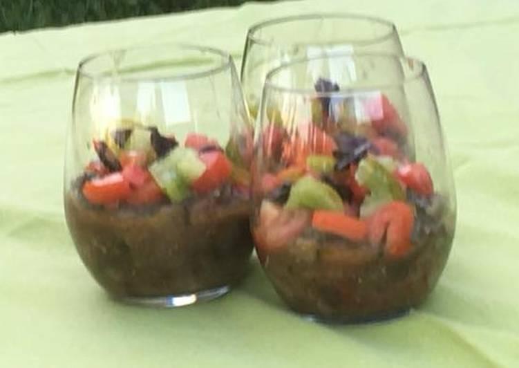 Recette Des Verrines d'aubergines