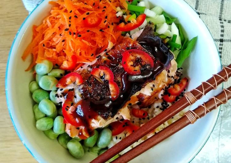 How to Prepare Any-night-of-the-week Teriyaki Glazed Salmon Donburi