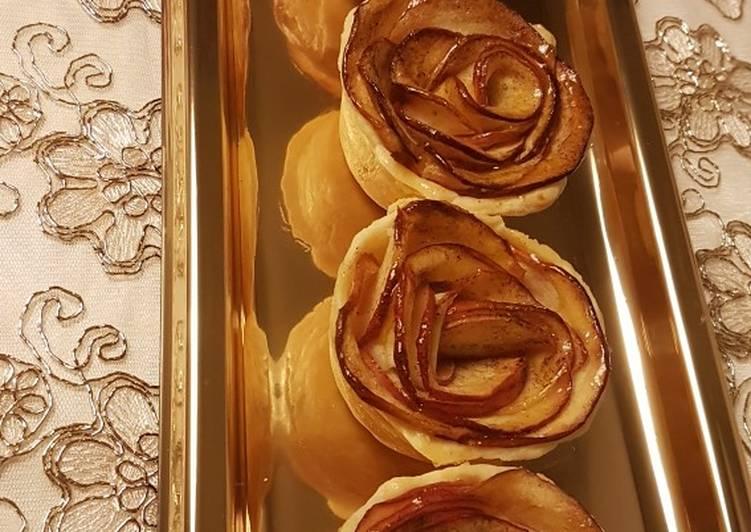 Mini tartelettes aux pommes a la crème pâtissière