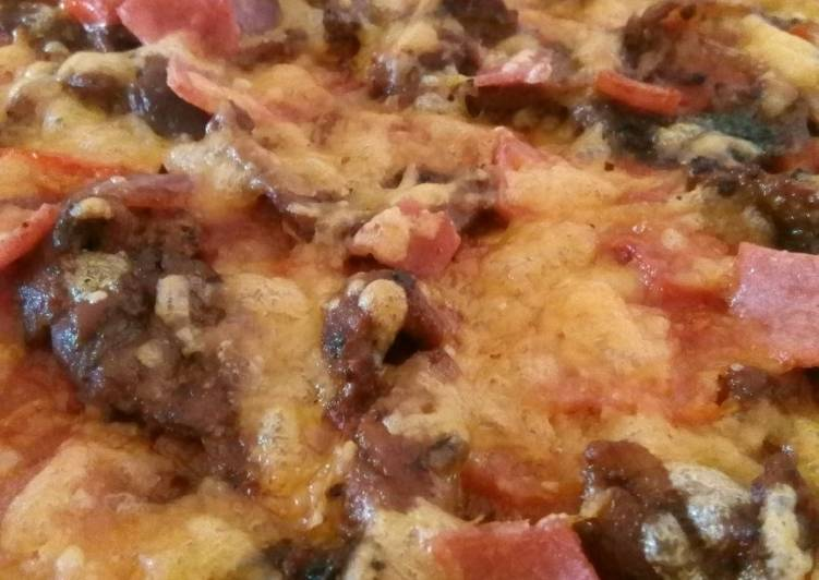 15 Minute Recipe of Speedy Meat deluxe pizza
