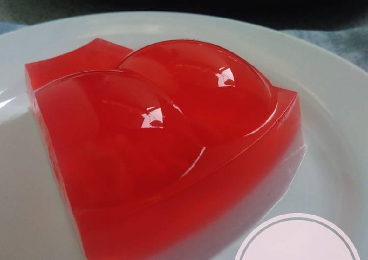 Agar Rasa Stroberi Susu (Agar2 Merah Putih ~ Cukup 1 Sachet)