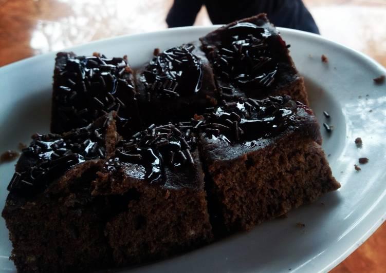 Rahasia Menyiapkan Brownies Coklat Ekonomis (no mixer, takaran sendok) Anti Ribet!