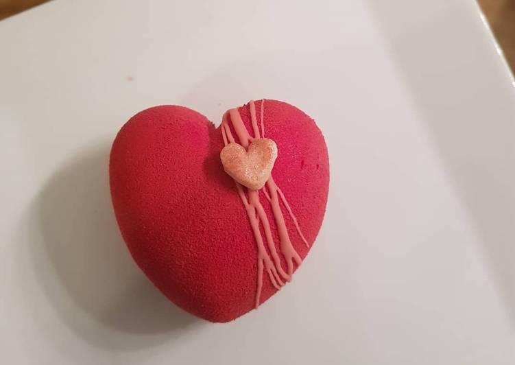 Entremet de St Valentin Fraise - Yaourt