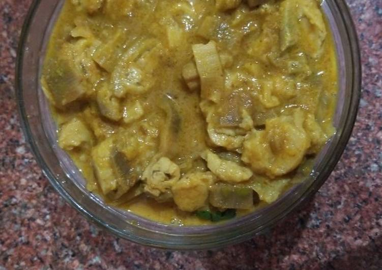 Raw banana curd gravy