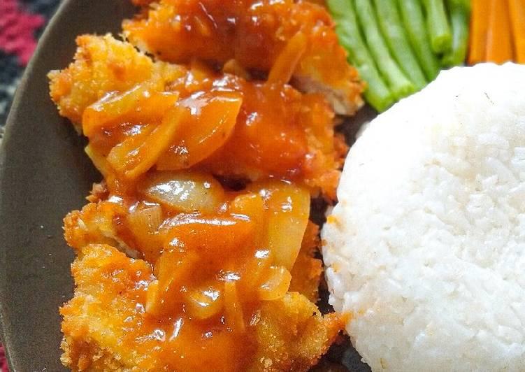 Langkah Mudah Untuk Menyiapkan Chicken Katsu Saus Bbq Yang Enak Banget Resep Masakanku