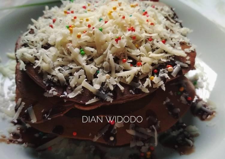 Resep Chocodrink pancake Bikin Ngiler